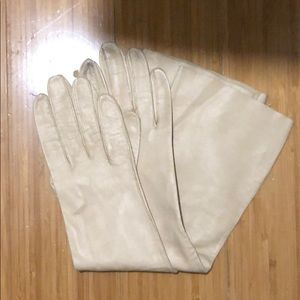 French Kid Skin Opera Length Leather Gloves